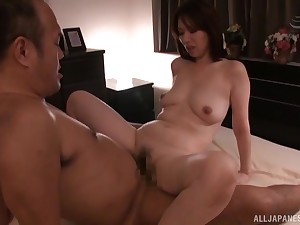 Hotel room two on two action with always horny Shouda Chisato