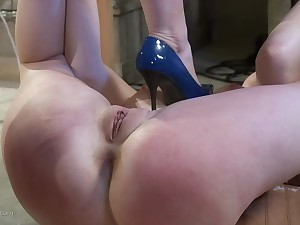 Redhead mistress wants to punish a sweet girl less sex toys