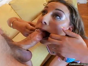Husband plunges his big hard cock unfathomable cavity purchase Delilah Strong