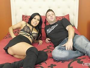 Demi Soldier of fortune wears crestfallen serving-woman while pleasuring her man's pecker