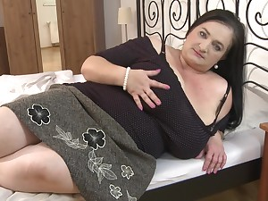 Mature Stefanka C. enjoys a chubby dick in a hot two on two action