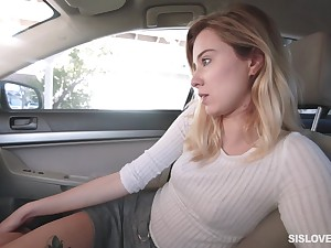 Haley Reed sucks off her lover twice before riding his dick