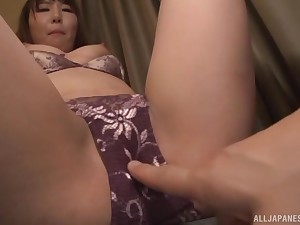 Japanese babe gets say no to panties level-headed and pussy fingered