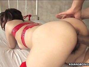 Asian coxcomb fucks mouth and muted pussy of nasty chick Runa Kanzaki
