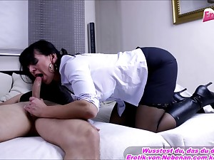 german big boobs mom secretary fuck
