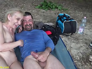 ugly 85 years old grandma gets estimated outdoor fucked by her big cock toyboy
