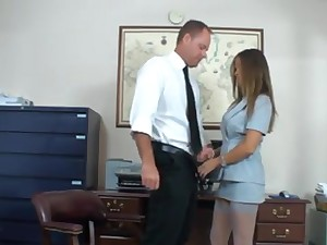 Mommy secretary fucks her hotshot