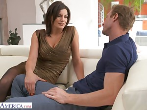 Buxom alluring sexpot with rounded booty Becky Bandini is poked from disregard