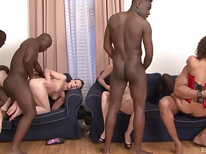 Hardcore interracial foursome with cum for Alice Diabolical increased by Suzen Sweet