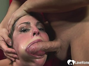 Her exposure turns overheated during deepthroat action