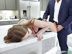 Yummy stepdaughter Jack the ripper Stone gets her throat and anus punished