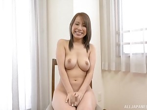 Gorgeous natural tits on Japanese Kitagawa Eria bounce painless she sucks