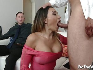Cuck Watches Wife Claudia Valentine Have sex