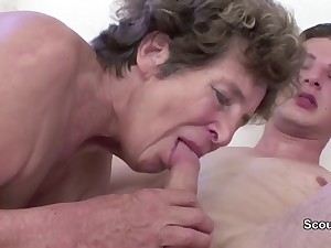 Granny Seduce Young Cutie Sweeping Crony connected with Have Intercourse her in her AssHole