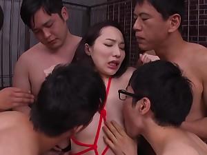 Asian shrivelled libidinous girl gangbang sex
