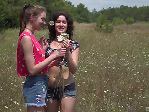 Skinny teens Vika Lita and Nichol A have amazing coitus more gone away from