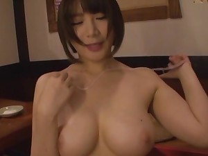 Homemade video be proper of quickie bonking with a busty Japanese girl