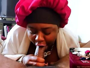 Stepmom THROATED - Sloppy Blow Job & Swallow