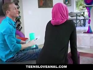 TeensLoveAnal - Lovable Muslim Teenage Rectal Nailed in Hijab